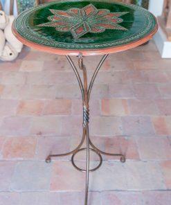 Mesa cerámica y forja